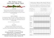 Christmas menu now released